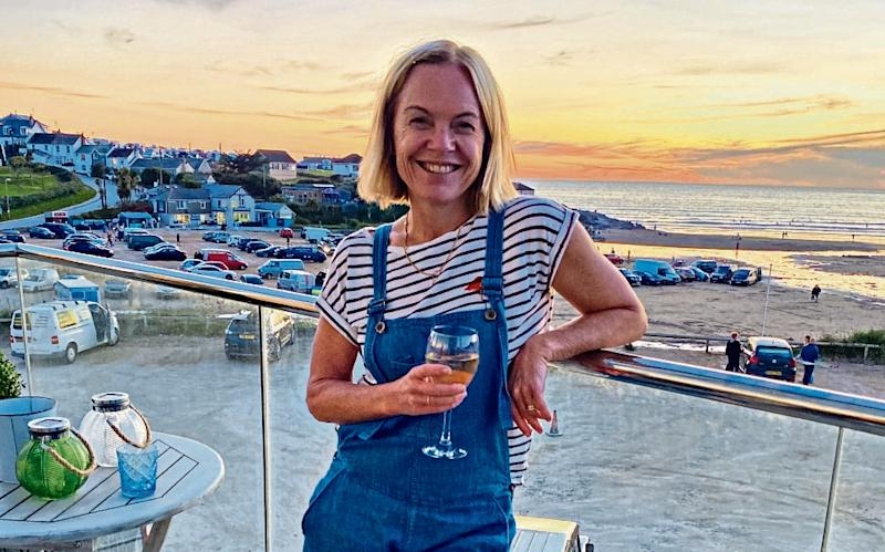 Mariella at her Cornish rental