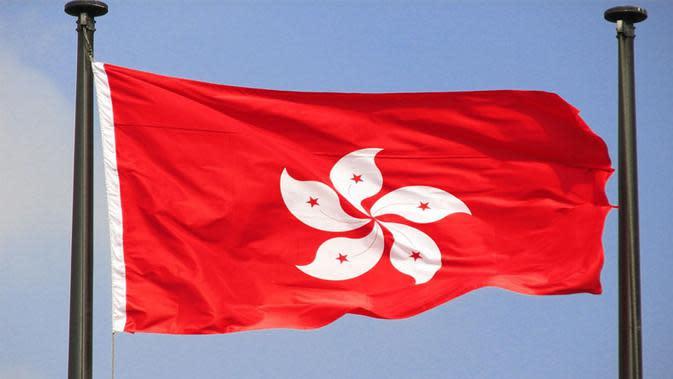 Ilustrasi bendera Hong Kong, China (Via: pinterest.com)