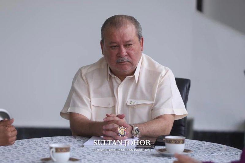 Johor Ruler Sultan Ibrahim Sultan Iskandar advised residents of the two areas in Simpang Renggam placed under enhanced movement control order to remain calm. — Picture via Royal Johor Facebook