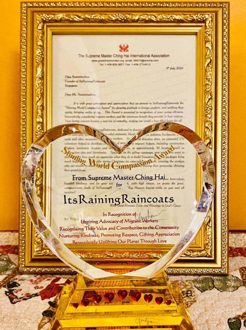 Its Raining Raincoats received the Shining World Compassion Award. (PHOTO: Its Raining Raincoats)