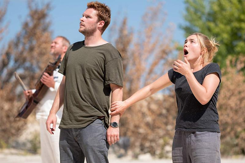 A photo of actors Jack Reynor and Florence Pugh in 'Midsommar' (A24 Films)