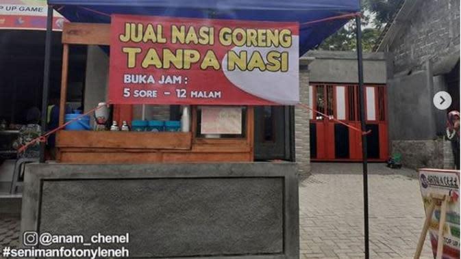 Ada Warung Jualan Nasi Goreng Tanpa Nasi, Seperti Apa? (dok.Instagram @anam_chenel/https://www.instagram.com/p/CF6zBBjso99/Henry)