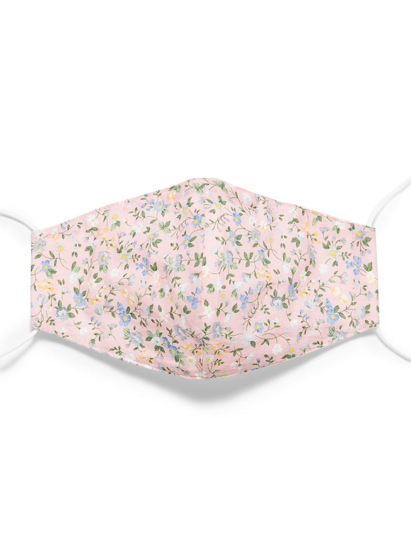 Floral print fabric face mask. Image via Simons.