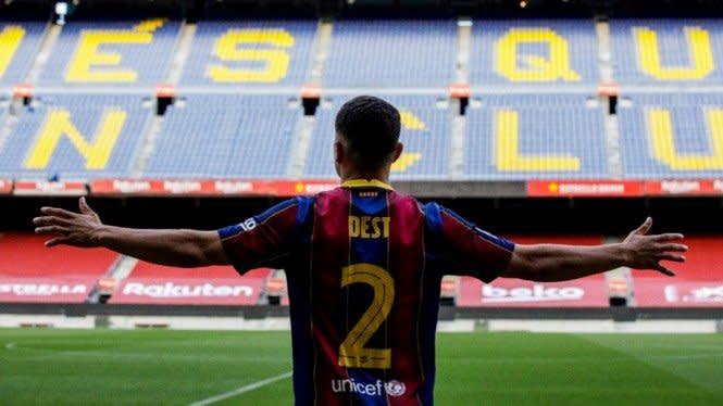 Ambisi Bek Anyar Barcelona, Rela Jadi Budak Messi