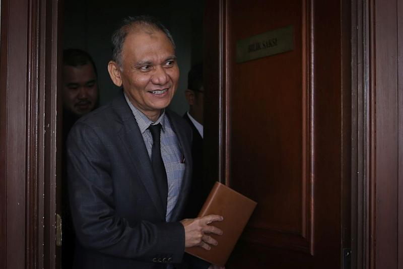 Datuk Shahril Ismail is pictured at the Kuala Lumpur High Court February 20, 2020. — Picture by Yusof Mat Isa