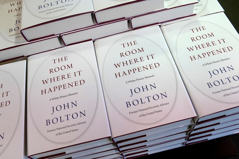 White House is accused of wrongly intervening to block John Bolton book