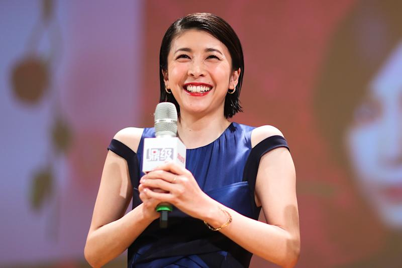 SHANGHAI, CHINA - JUNE 14: Japanese actress Yuko Takeuchi attends the screening of TV series 'Miss Sherlock' during the 24th Shanghai TV Festival on June 14, 2018 in Shanghai, China. (Photo by Visual China Group via Getty Images/Visual China Group via Getty Images)