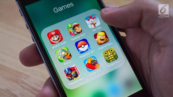 Ilustrasi Game mobile (iStockPhoto)