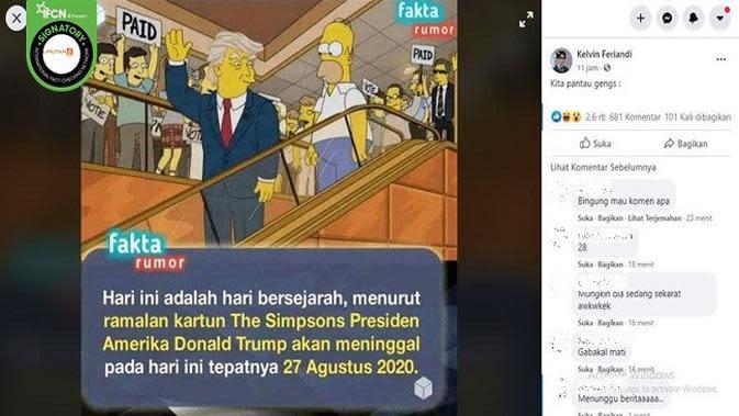 Gambar Tangkapan Layar Kabar Hoaks Tentang Donald Trump