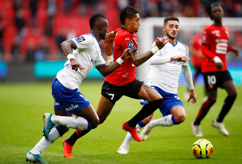 Rennes cling on to top spot after home draw with Reims