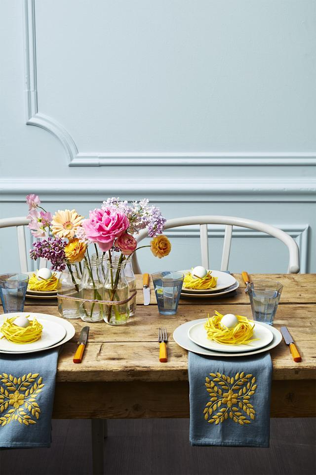 "<p>Aside from <a href=""https://www.goodhousekeeping.com/holidays/easter-ideas/g191/history-easter-traditions/"" target=""_blank"">the holiday's religious roots</a>, Easter is a special time to relish in all that the spring season has to offer. After months of rain and snow, show off Mother Nature's bounty with these stunning Easter flowers. Pull together one of these statement-making <a href=""https://www.goodhousekeeping.com/home/decorating-ideas/g30693064/spring-centerpieces/"" target=""_blank"">centerpieces full of the season's best blooms</a> to make the table itself look as cheery as your dinner guests. There's two ways you can go: add a burst of sunshine to your party with bright tulips, sunflowers, and lilies, or opt for something light and sweet like blush peonies and white hydrangeas. </p><p>The flowers are just half of it. Place your cheery arrangement in <a href=""https://www.goodhousekeeping.com/holidays/easter-ideas/g2217/easter-decorations/"" target=""_blank"">a handmade vase</a> that's equally as centerpiece-worthy.  Not sure that your DIY skills are up to par? Take a look at these party-ready centerpieces and arrangements for inspiration (and well, motivation). </p>"