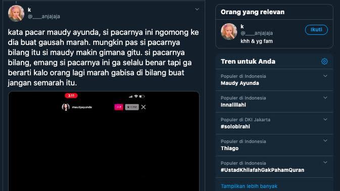 Maudy Ayunda Cekcok dengan Seorang Lelaki. (https://twitter.com/____anjajaja)