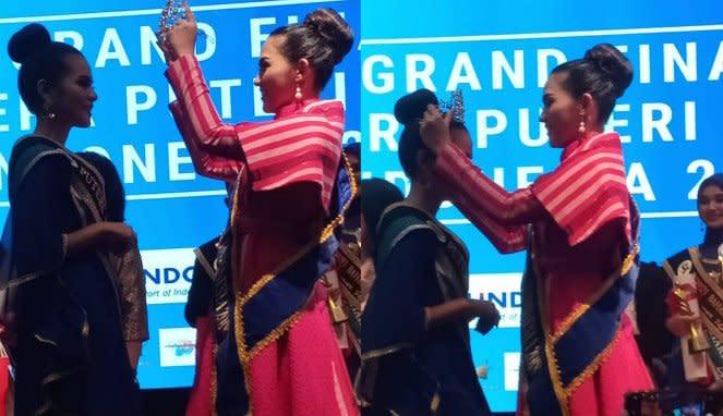 Penyematan Mahkota Putri Bahari Indonesia 2019 kepada Syeha Shafira Alhaddar