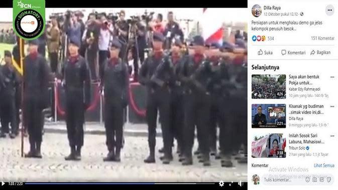 Gambar Tangkapan Layar Video Apel Brimob (sumber: Facebook)