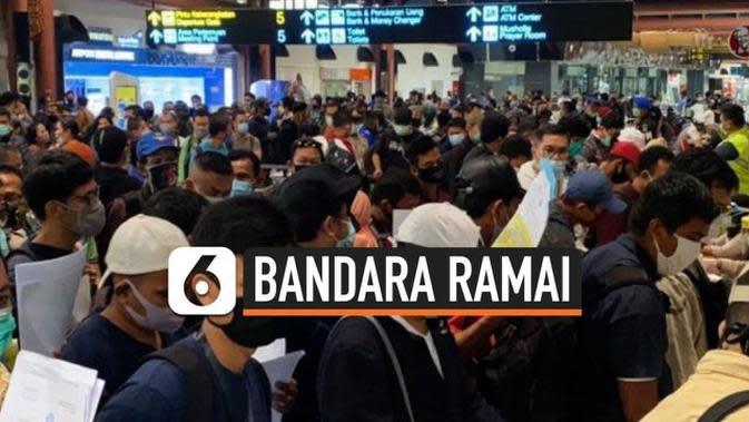 VIDEO: Viral Antrean di Bandara Soetta, Ini Faktanya