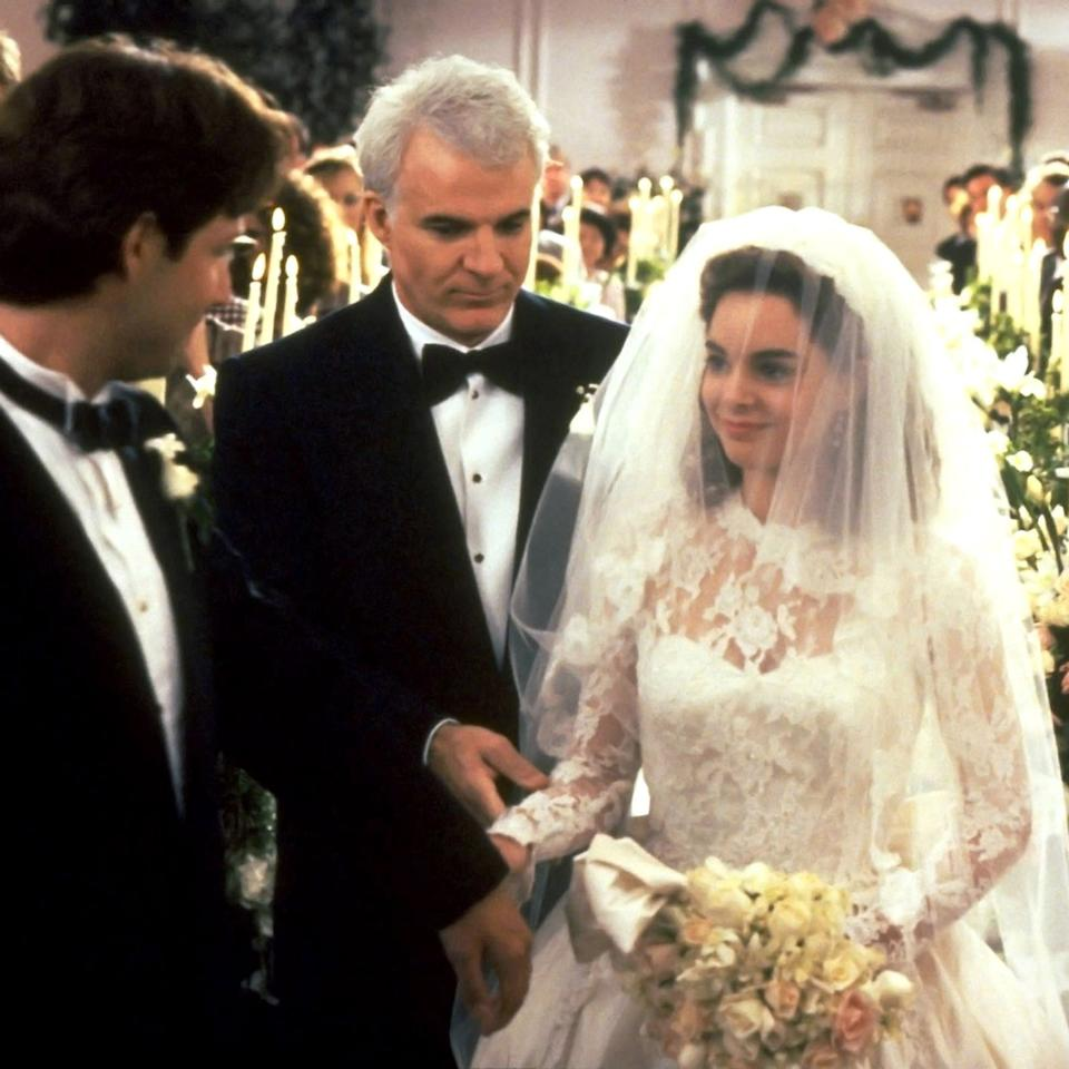 "<p>Strategically released around the date of Elizabeth Taylor's real-life wedding to Conrad Hilton Jr., the 1950 version of <em>Father of the Bride</em>, a romantic comedy dedicated to the titular patriarch pegged with the nagging irritations the big day requires, was a massive critical success starring Taylor and Spencer Tracy. And the same can be said of the 1991 Nancy Meyers remake (pictured here) starring Steve Martin and Kimberly Williams-Paisley. Honestly, it's a toss-up at which one we recommend you watch first.</p><p><a class=""body-btn-link"" href=""https://www.amazon.com/gp/video/detail/amzn1.dv.gti.82ae4f90-f222-fa44-ba90-5573ee3423dc?autoplay=1&tag=syn-yahoo-20&ascsubtag=%5Bartid%7C10056.g.32435048%5Bsrc%7Cyahoo-us"" target=""_blank"">WATCH NOW</a></p>"