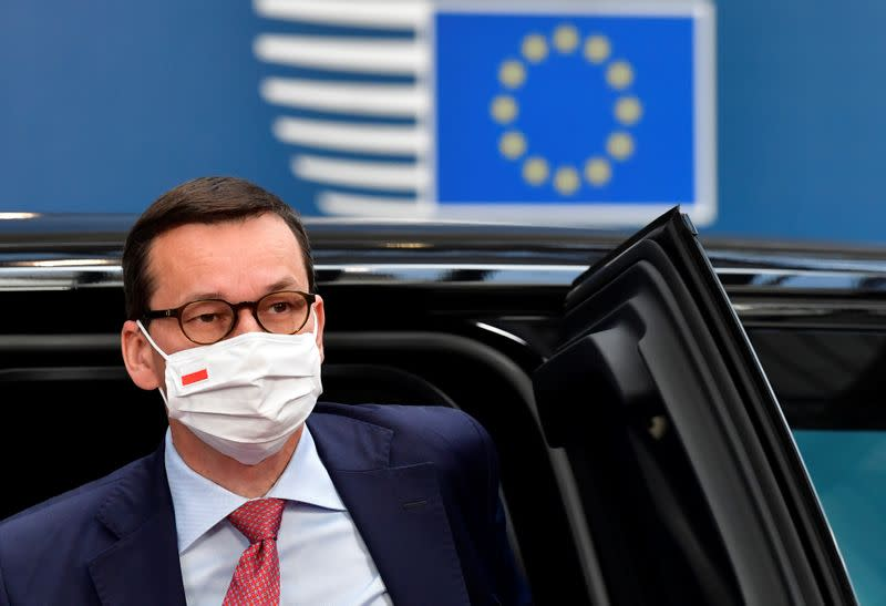 Polish PM says would not accept rule of law strings on EU money