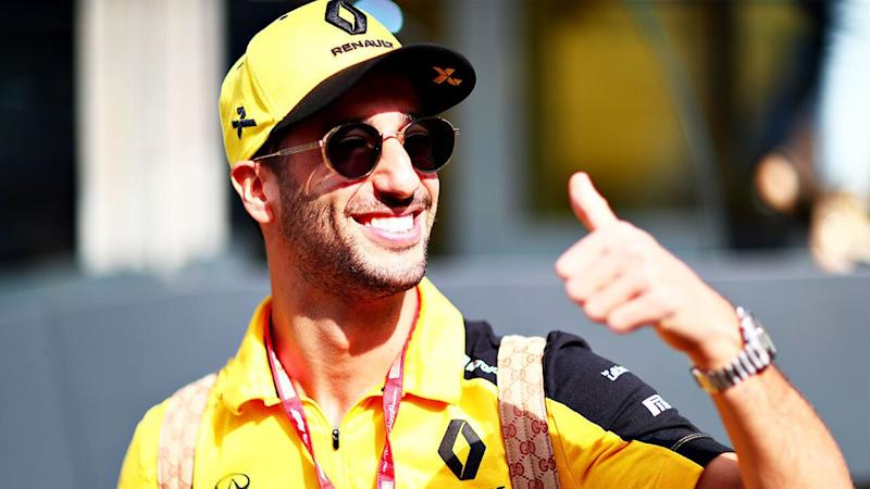Ricciardo feels like he's having a positive influence at Renault. Pic: Getty