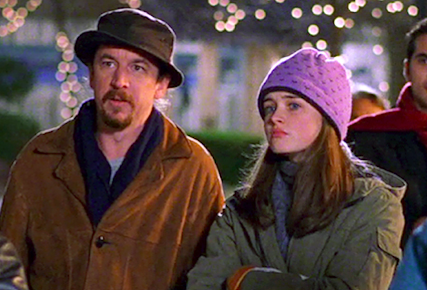 A photo of the late Brian Tarantina, pictured with co-star Alexis Bledel, in character as Bootsy on set of Gilmore Girls.