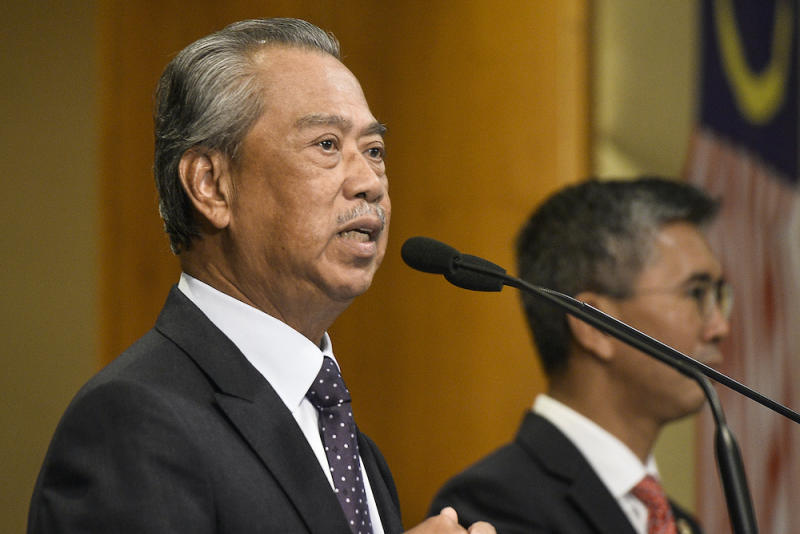 Prime Minister Tan Sri Muhyiddin Yassin expressed hope that the measure would encourage property owners to emulate the government's move to waive rent for struggling businesses at premises owned directly or via state-linked companies. — Picture by Miera Zulyana