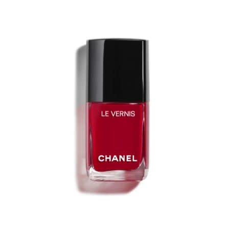 "<p>Chanel knows how to master a magnetic red, and this shade is robust and rich without being too bright to wear during the tail end of winter. Plus, Valentine's Day calls for a romantic hue, no? </p> <p><strong>BUY IT:</strong> $28; <a href=""https://www.chanel.com/us/makeup/p/159012/le-vernis-longwear-nail-colour/"" target=""_blank"">chanel.com</a></p>"