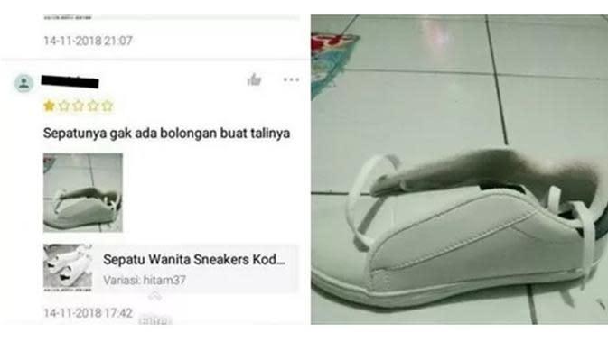 6 Momen Apes Belanja Sepatu di Online Shop Ini Tak Sesuai Ekspektasi (sumber: Instagram.com/ngakakkocak)