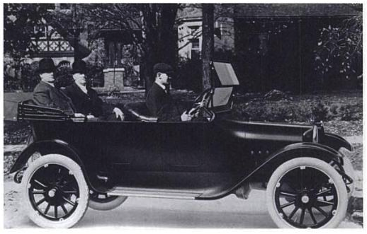 November 14: Dodge Brothers spied riding in their first car on this date in 1914