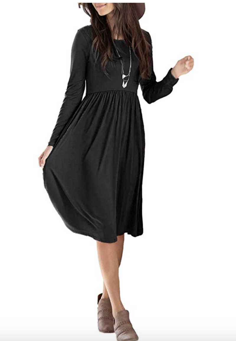 sullcom Women's Long Sleeve Midi Dress. (Photo: Amazon)