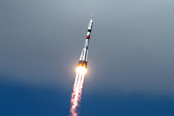 Soyuz MS-16 lifts off