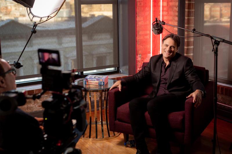 "Jim McBride, a.k.a. Mr. Skin, filming ""Skin."" (Photo: Benjamin Hoffman)"