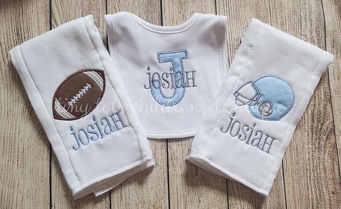 Personalised Baby Bib Feeding Dribble Muslin Burp Cloth Gift