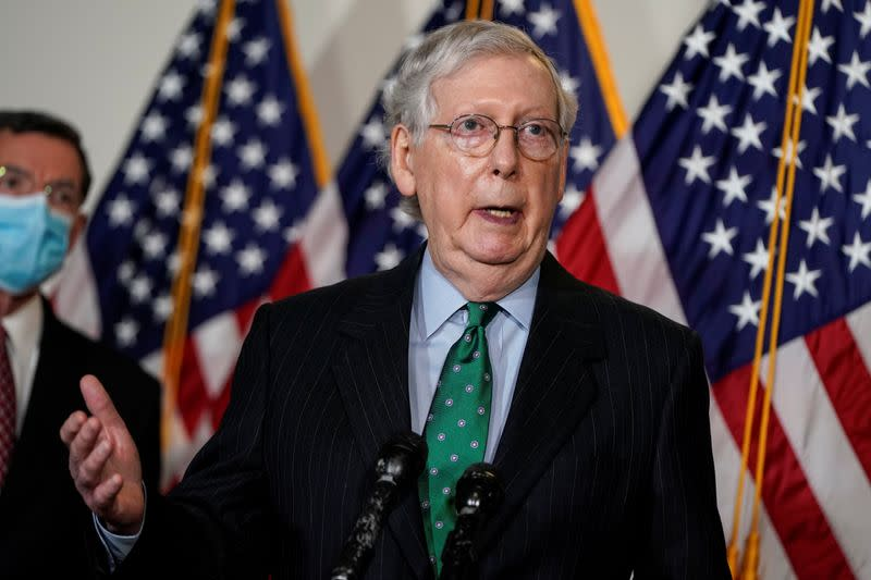 U.S. Supreme Court nominee's confirmation hearings on track, McConnell says
