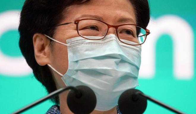 Hong Kong Chief Executive Carrie Lam meets the press on Tuesday. Photo: Robert Ng