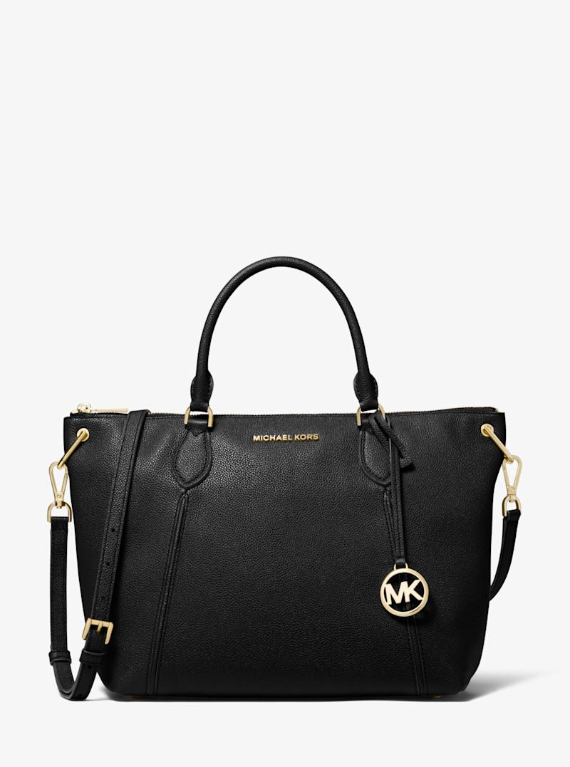 MICHAEL KORS Sierra Large Pebbled Leather Satchel