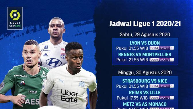 Jadwal Ligue 1 pekan kedua di Vidio. (Sumber: Vidio)