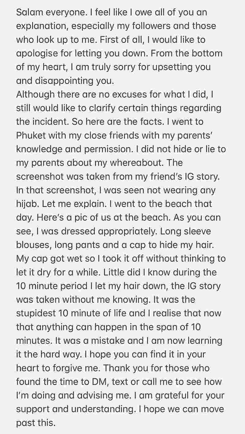 Sharifah apologised on Twitter yesterday. — Courtesy of Twitter/Sharifah Rose