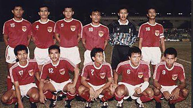 Timnas Indonesia di SEA Games 1991. (Bola.com/Repro)