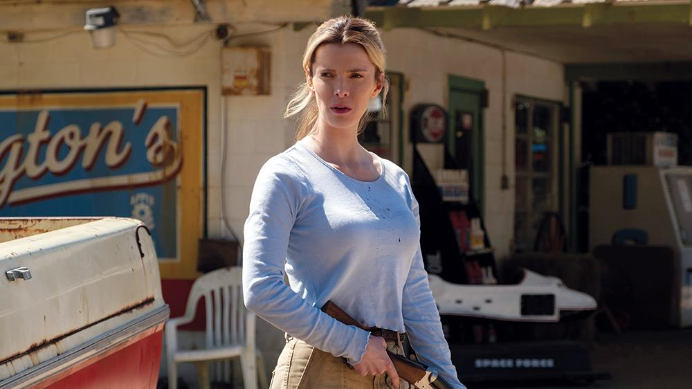 """Betty Gilpin as Crystal in """"The Hunt,"""" directed by Craig Zobel (Universal)"""