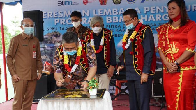 Pada tahun ini Pertamina MOR I Sumbagut menargetkan pembangunan 2 titik BBM satu harga di wilayah Nias.