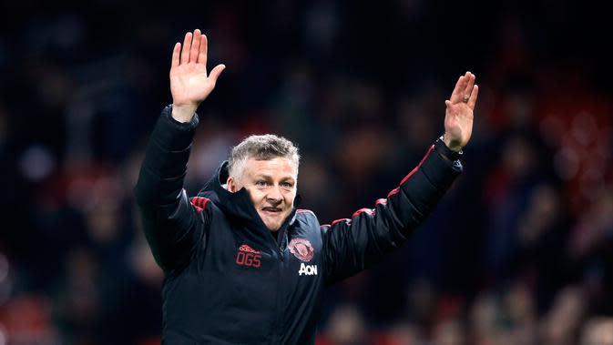 Manajer Manchester United, Ole Gunnar Solskjaer (Martin Rickett/PA via AP)