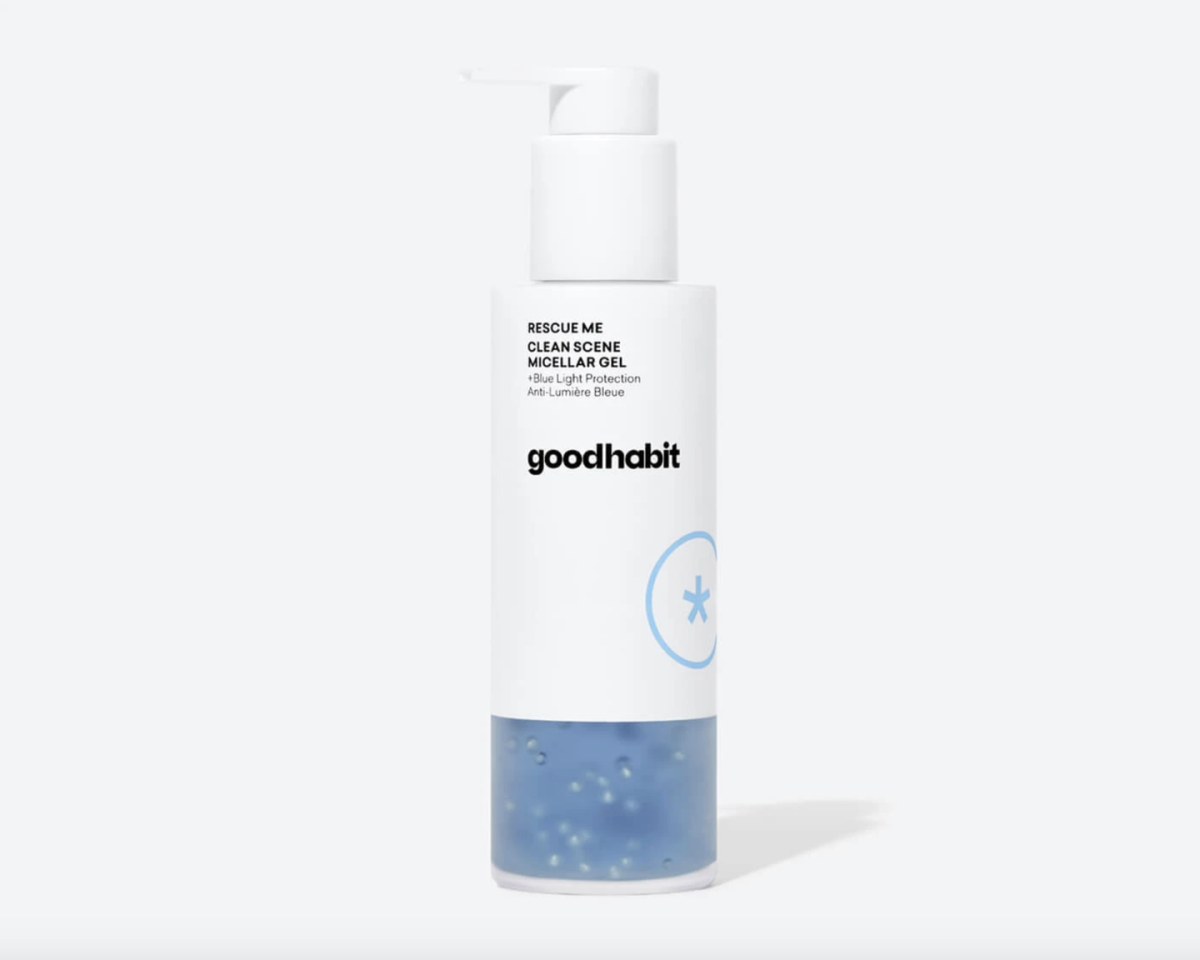 "<p>Made especially for blue light protection, Goodhabit's micellar gel wipes away stubborn makeup and any traces of dirt and oil. Meanwhile, BLU5 Technology, blue spirulina, and the blue tansy flower minimizes the effects of HEV light damage and reduce inflammation for a calming sensation.</p><p><strong>Goodhabit </strong>Rescue Me Micellar Gel, $38, goodhabitskin.com <a class=""body-btn-link"" href=""https://goodhabitskin.com/collections/shop-all/products/clean-scene-micellar-gel"" target=""_blank"">PREODER NOW</a></p>"