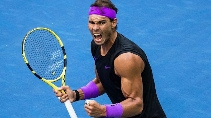 Rafael Nadal, pictured here in action during the US Open final.