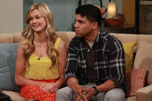 Victor Ortiz and pro partner Lindsay Arnold stopped by Access Hollywood Live on March 4, 2013 -- Access Hollywood