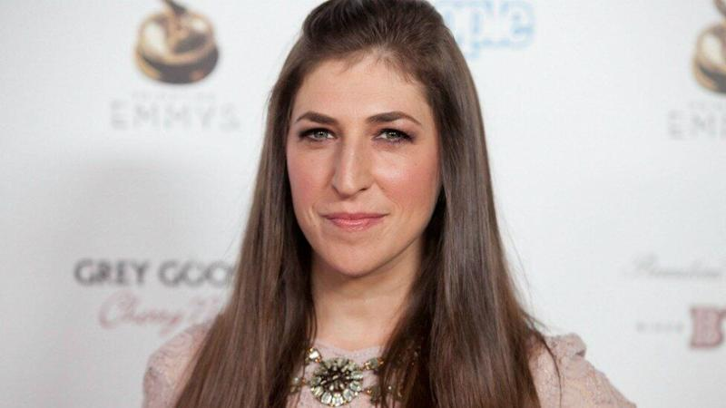 Big Bang Theory's Mayim Bialik, pictured on the red carpet, has clapped back at body shamer