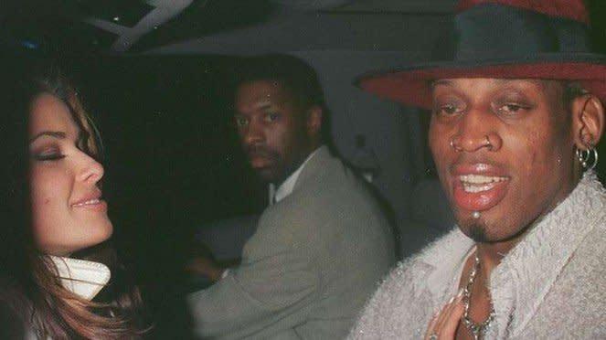Dennis Rodman dan mantan istrinya, Carmen Electra