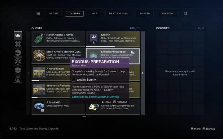 Destiny 2 Exodus quest