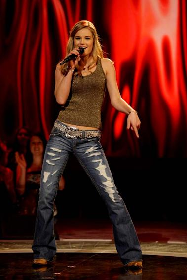 Kristy Lee Cook performs as one of the top 24 contestants on the 7th season of American Idol.