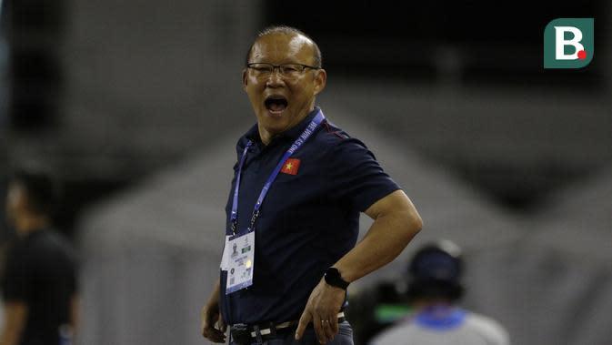 Pelatih Timnas Vietnam U-22, Park Hang-seo. (Bola.com/Muhammad Iqbal Ichsan.