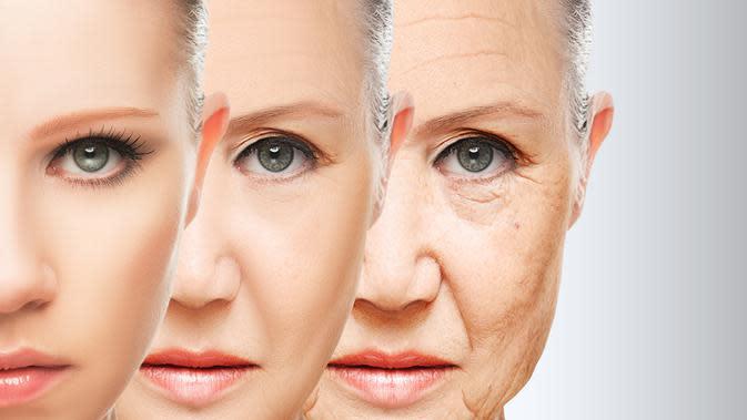 Ilustrasi penuaan dini.