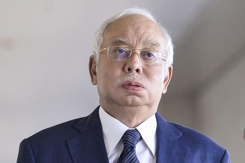 Former prime minister Datuk Seri Najib Razak is pictured at the Kuala Lumpur High Court on January 23, 2020. — Picture by Miera Zulyana